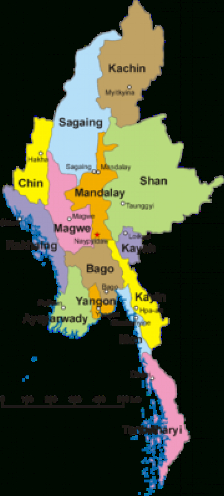 Myanmar - Wikipedia regarding Map Of Myanmar States And Regions