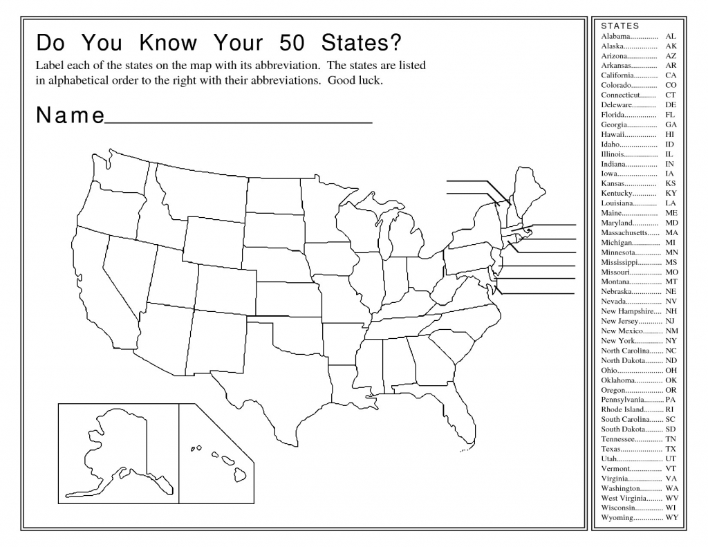 Name The Us States Map Game Best Printable Us State Map Quiz in American States Map Quiz