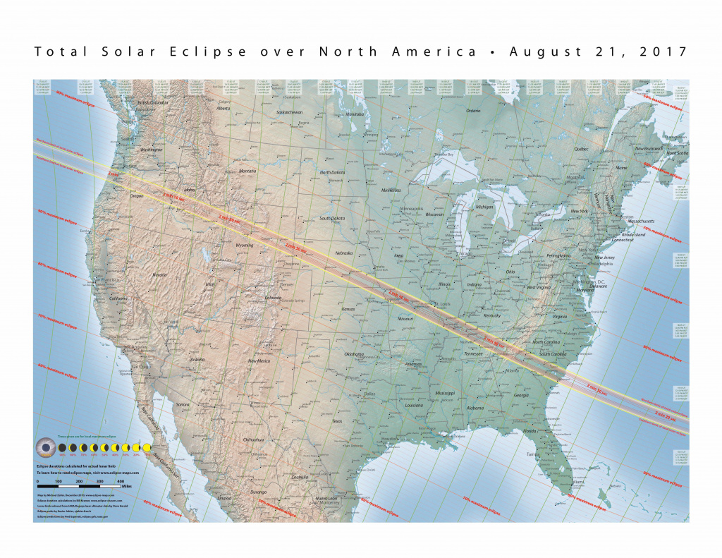 Nasa - Total Solar Eclipse Of 2017 August 21 with regard to Eclipse Maps By State