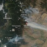 Nasa   Wildfires In Washington State Within Map Of The Washington State Fires