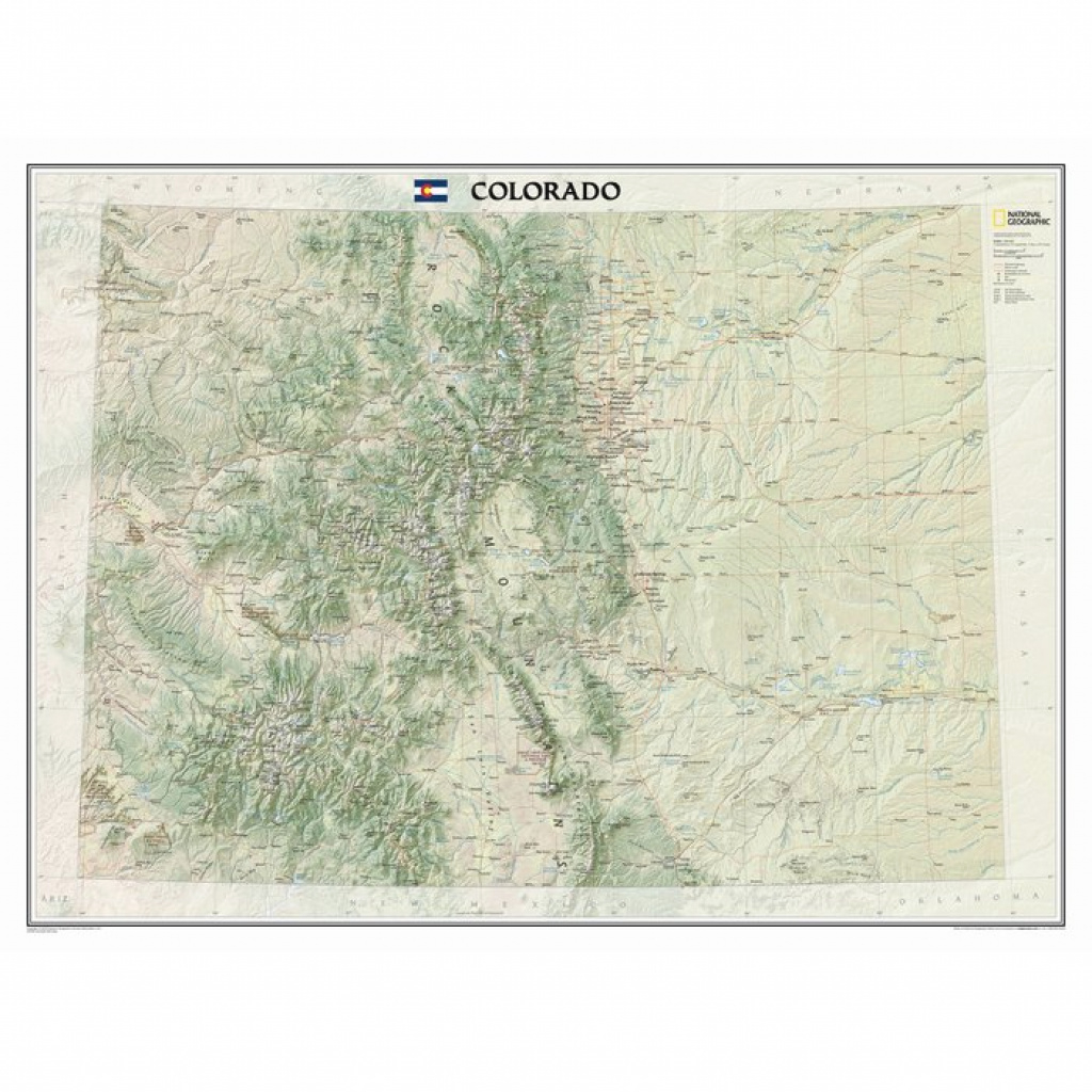 National Geographic Maps Colorado State Wall Map | Wayfair.ca intended for State Wall Maps