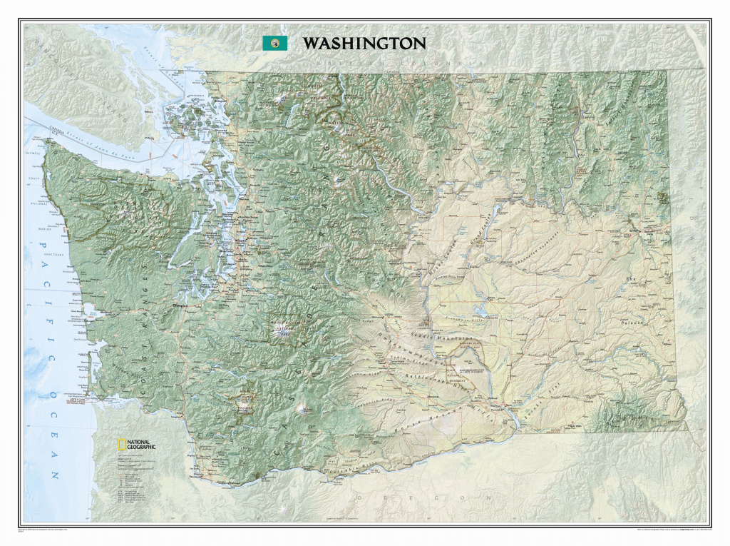 National Geographic Maps Washington State Wall Map | Wayfair throughout State Wall Maps