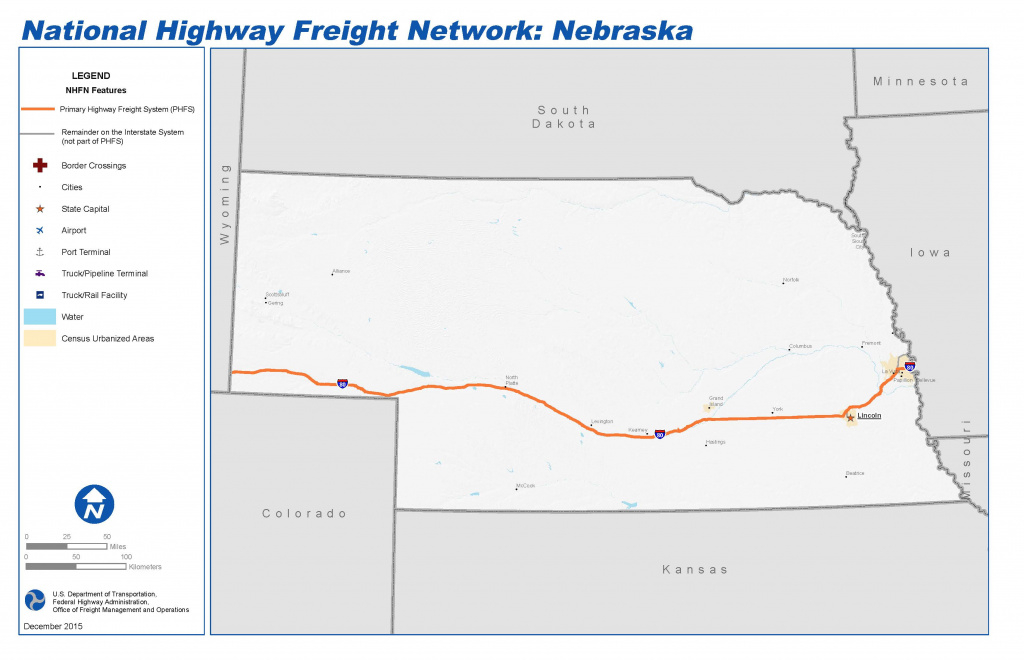 National Highway Freight Network Map And Tables For Nebraska - Fhwa with Map Of Nebraska And Surrounding States