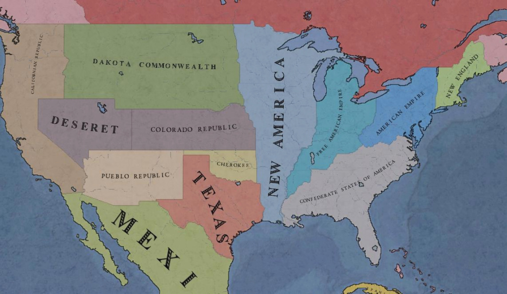 Nationstates | Dispatch | The Disunited States Of America (Map) in Disunited States Of America Map