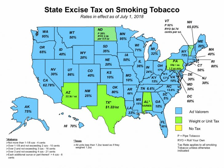 Tax Rates By State Map