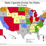 Nato: Tobacco Tax Maps Pertaining To Cigarette Prices By State Map