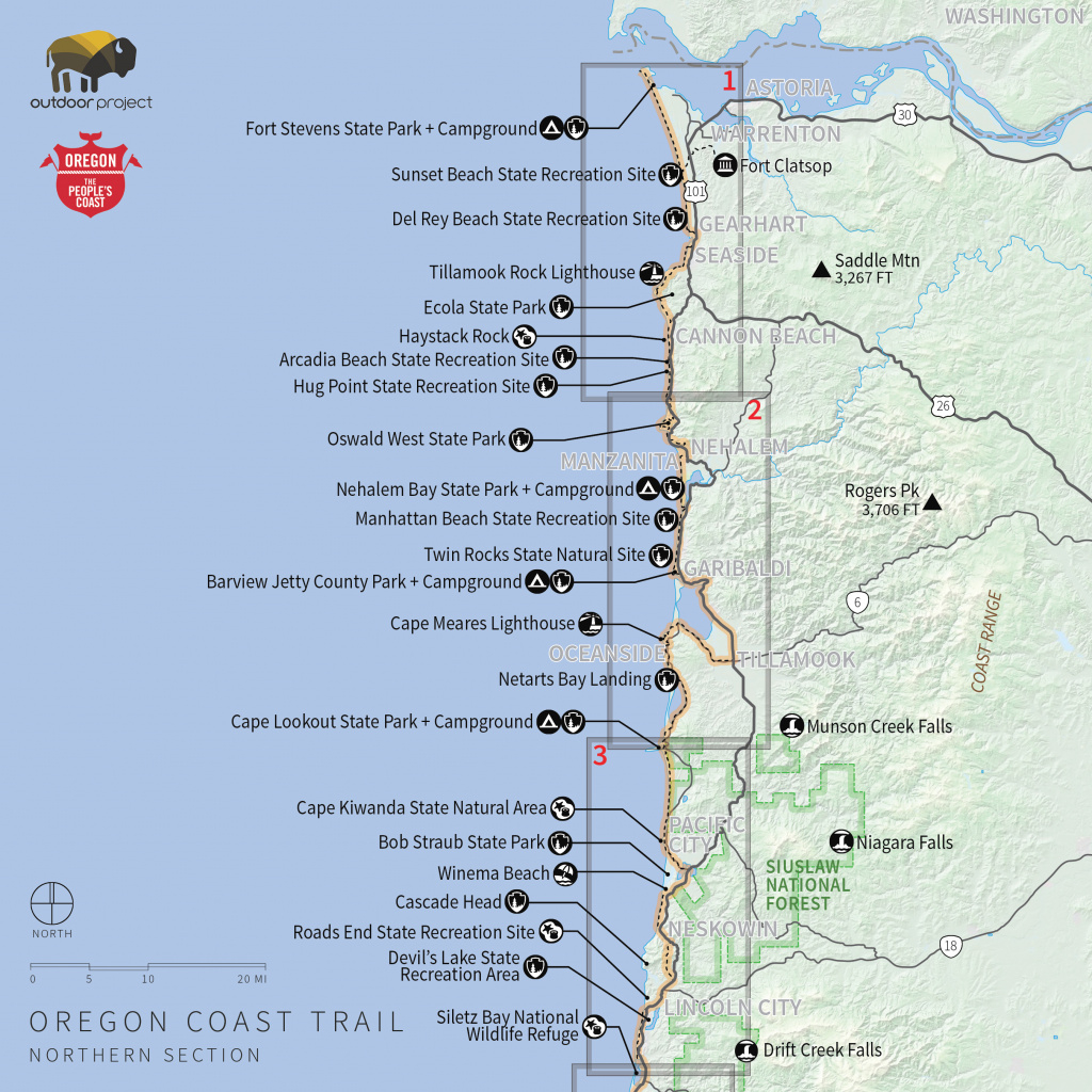Navigating The Oregon Coast Trail - Outdoor Project within Oregon State Parks Camping Map