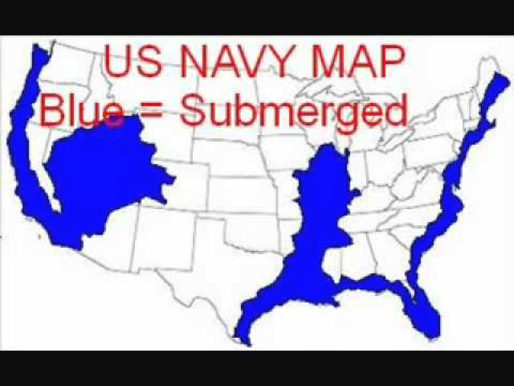 Navy Map Of Future Earth Changes In The United States - Youtube inside New Navy Map Of The United States Coastline