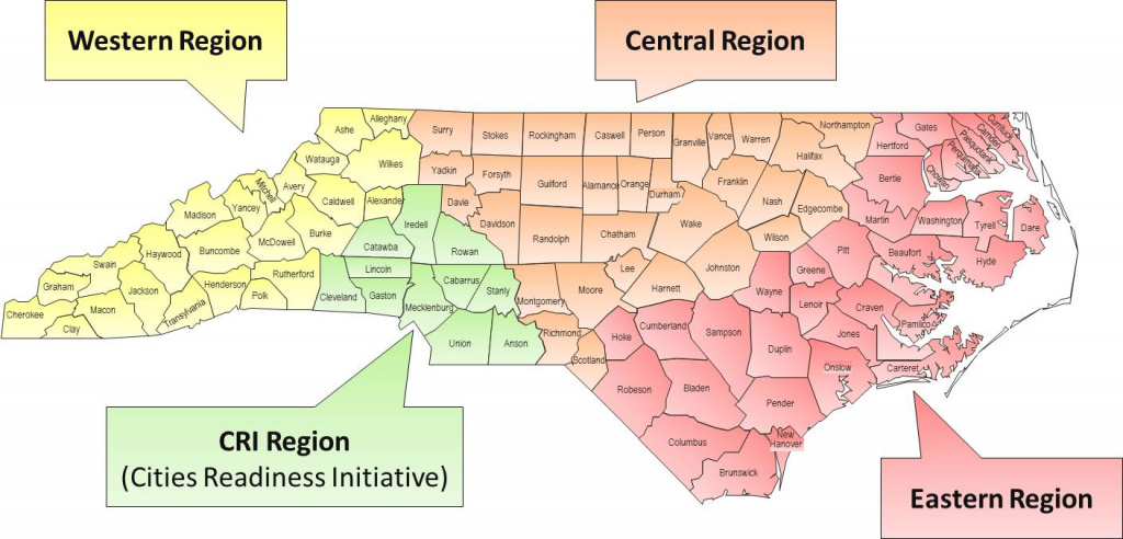 Nc Dph: Epidemiology: Preparedness And Response: Regional Offices with regard to Nc State Map With Counties