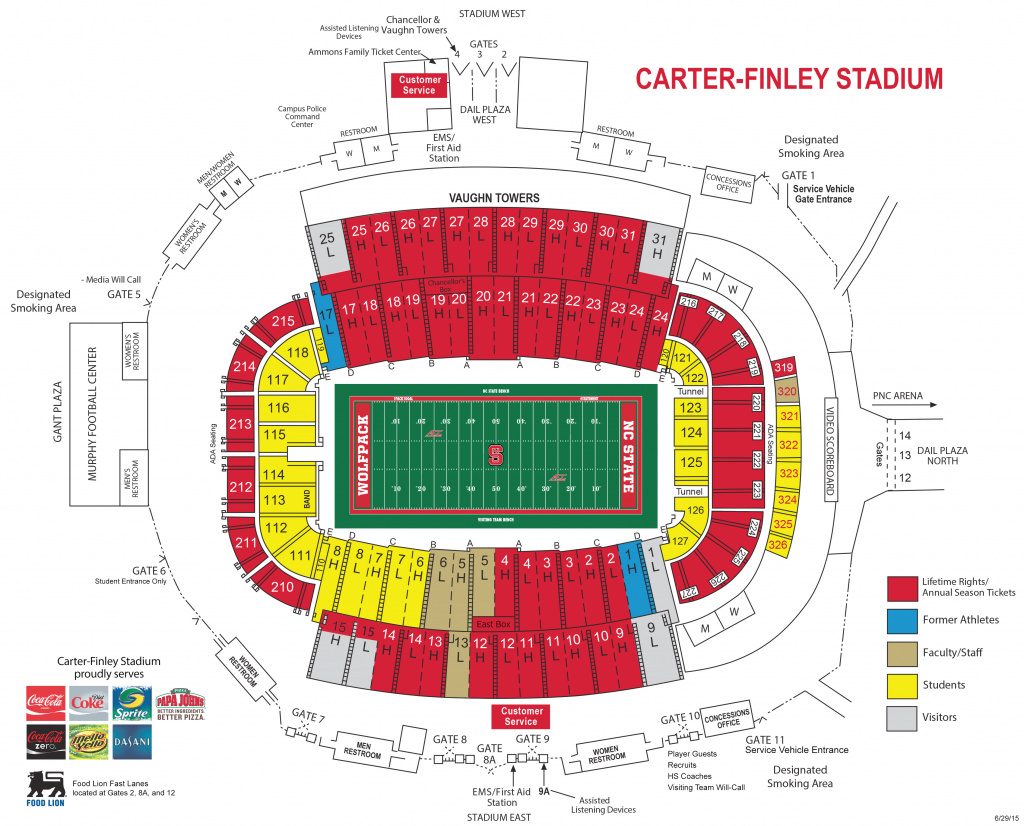 Nc State Athletics - New Football Game Day Initiatives For 2015 Season with Nc State Football Parking Map