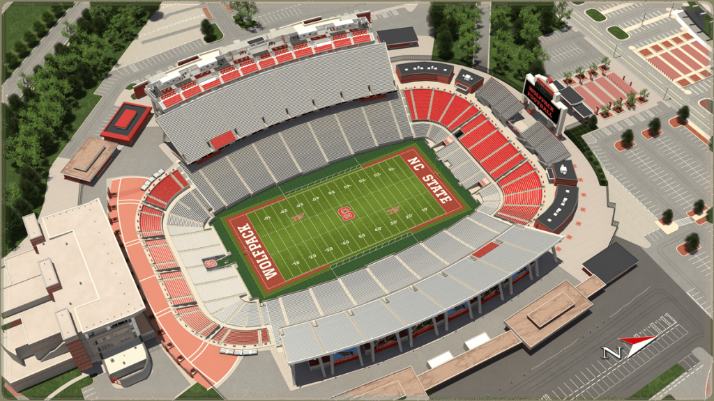 Nc State Football inside Nc State Football Parking Map
