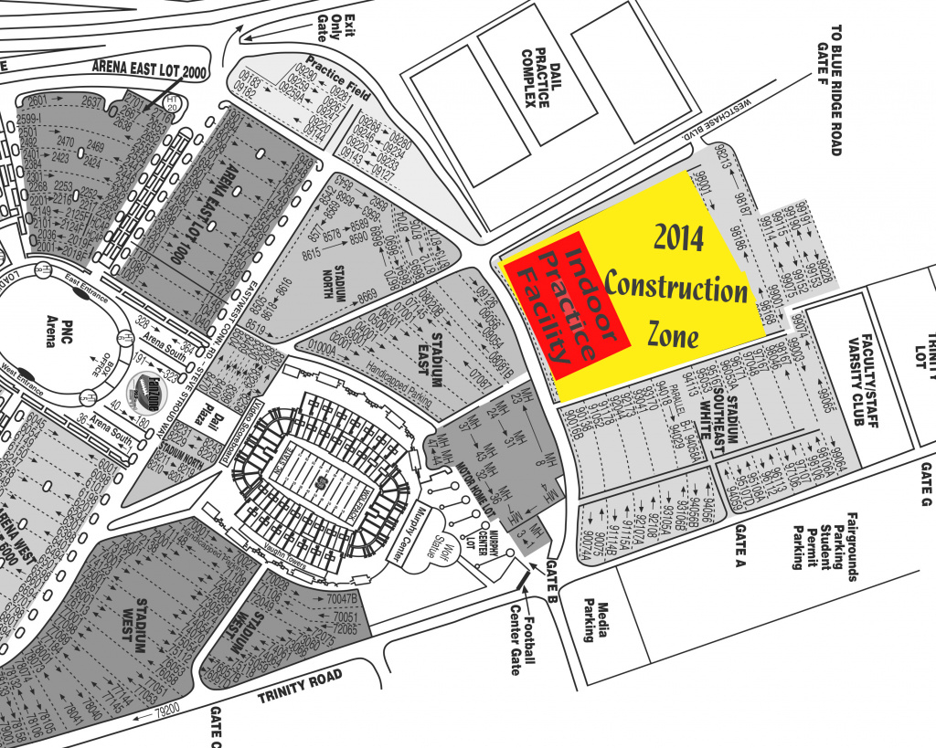 Nc State Indoor Practice Facility intended for Nc State Parking Map