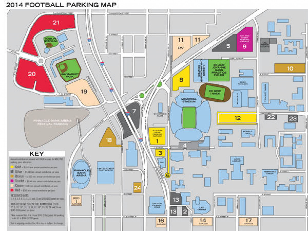 Nebraska Tailgating with Michigan State Football Parking Lot Map
