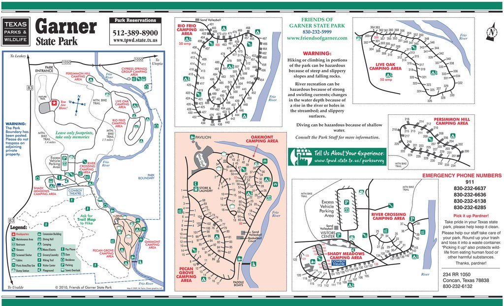 Need A Garner State Park Map? for Oak Mountain State Park Campground Map