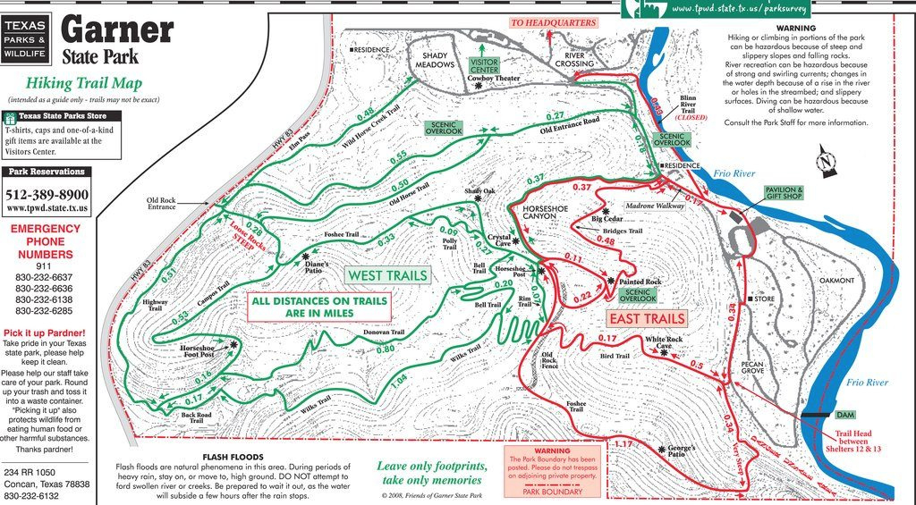 Need A Garner State Park Map? within Oak Mountain State Park Campground Map