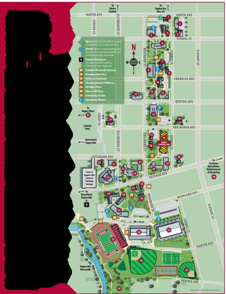 Neiu Campus Map Illinois State University Campus Map Walden intended for Central State University Campus Map