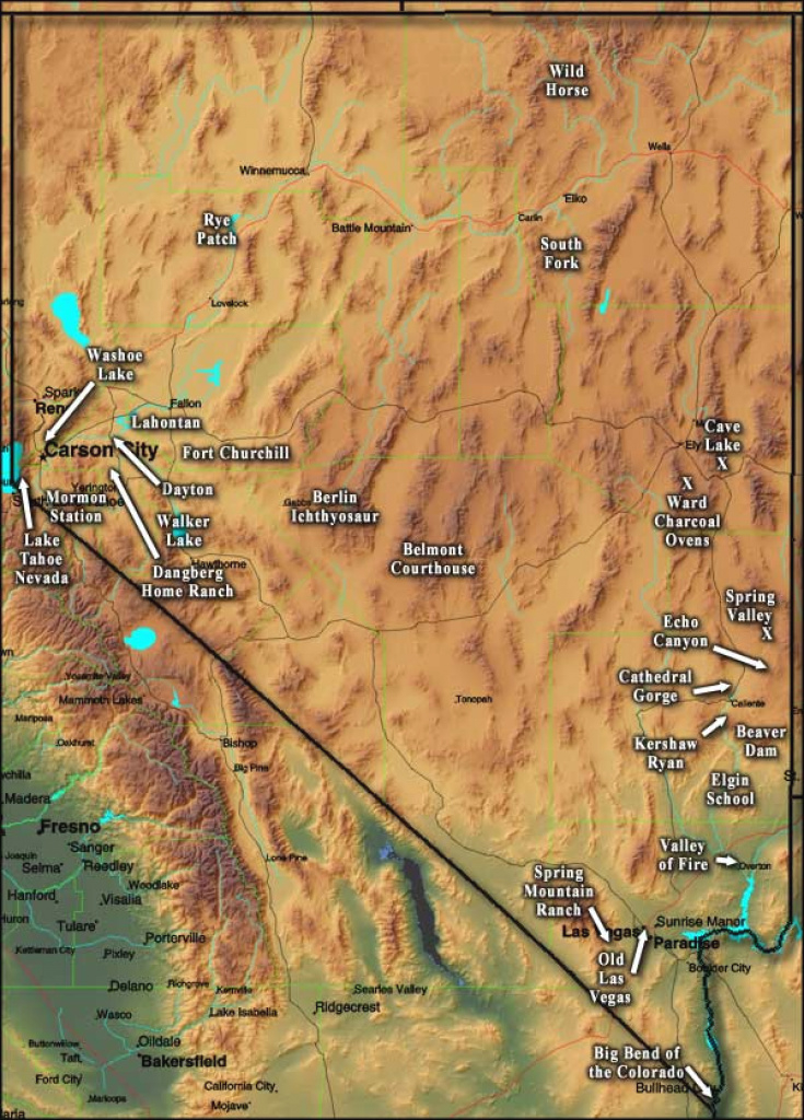 Nevada State Parks for Nevada State Parks Map