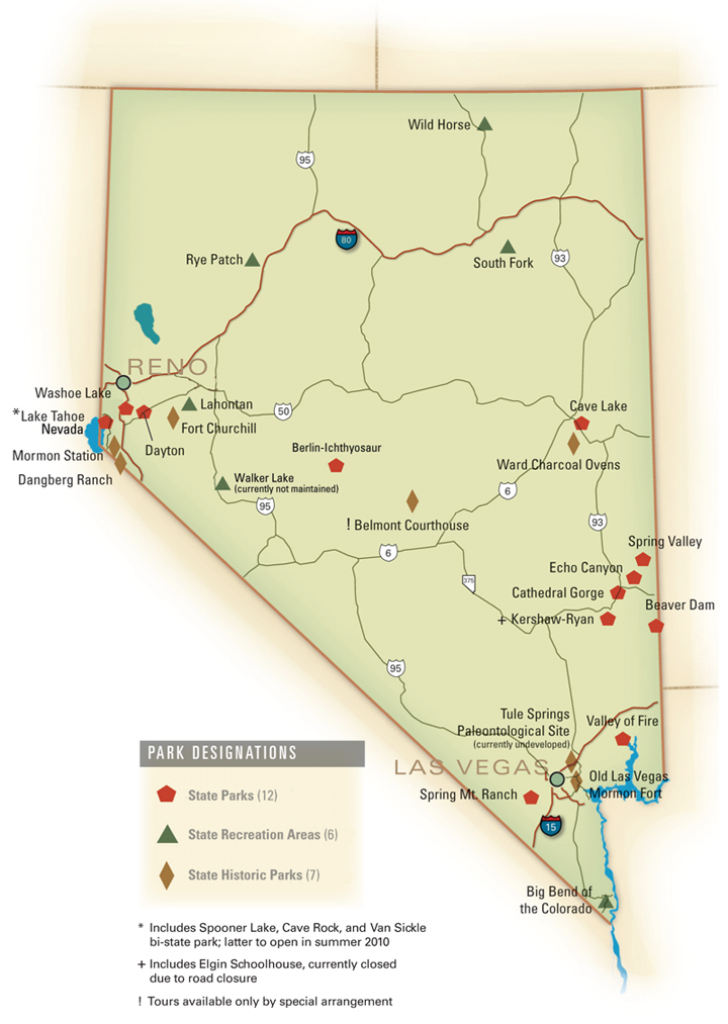 Nevada State Parks Locator Map.tony Deronnebeck | Illustrations in Nevada State Parks Map