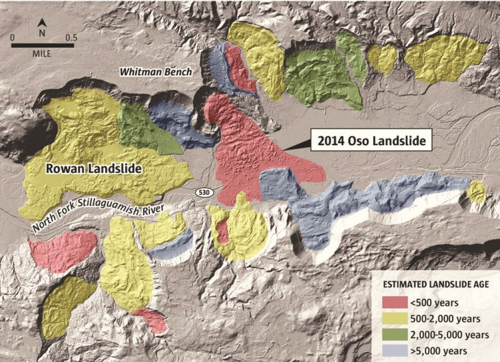 New Analysis Shows Oso Landslide Was No Fluke | The Seattle Times pertaining to Washington State Landslide Map