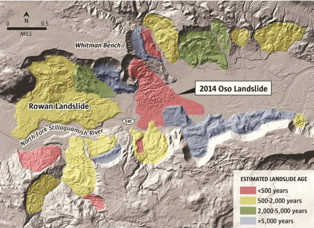 New Analysis Shows Oso Landslide Was No Fluke | The Seattle Times With Regard To Washington State Mudslide Map