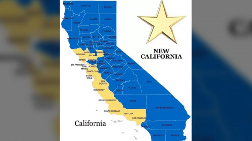 New Effort Underway To Split California Into Two States intended for Splitting California Into Two States Map
