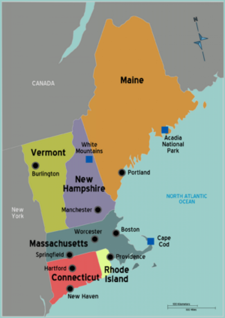 New England Travel Guide - Wikitravel | New England Roadtrip In 2018 for Map Of New England States And Their Capitals