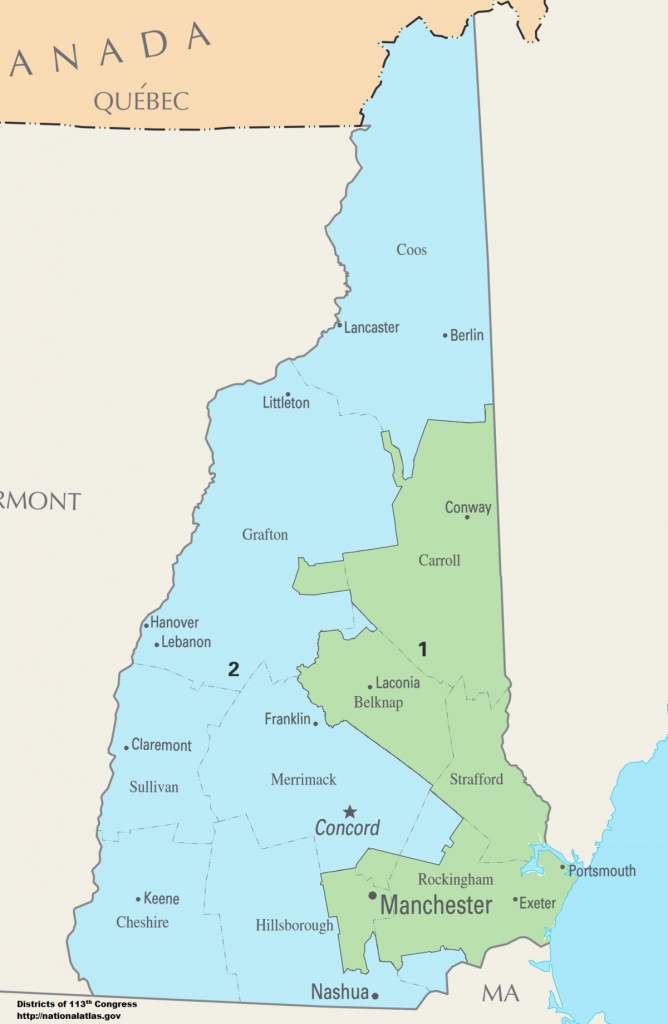 New Hampshire's Congressional Districts - Wikipedia pertaining to Nh State Congressional Districts Map