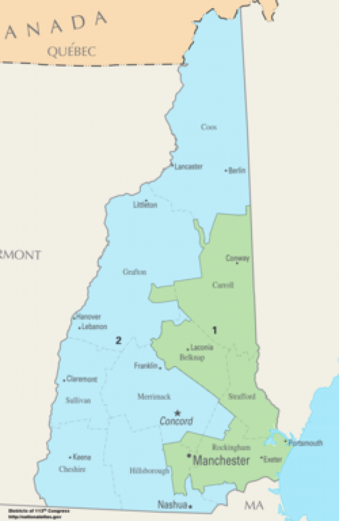 New Hampshire's Congressional Districts - Wikipedia within Nh State Congressional Districts Map