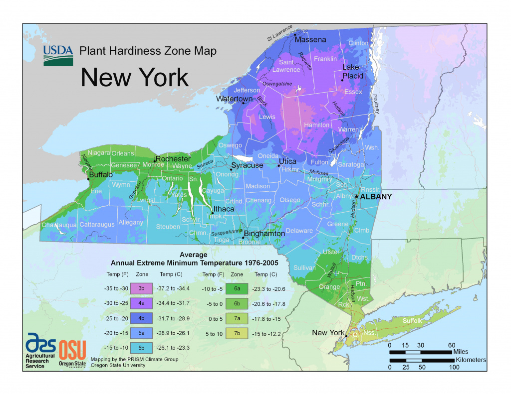 New Hardiness Zone Map For New York with New York State Weather Map