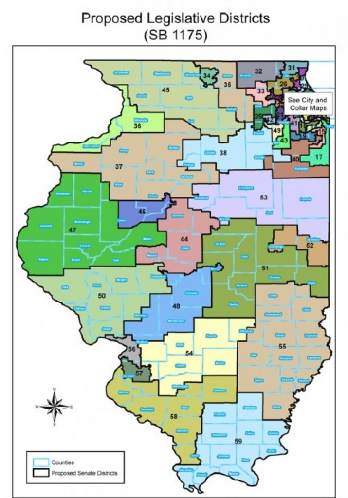 New Illinois Senate Map Pushes Some Incumbents Into Unfamiliar for Illinois State Senate District Map