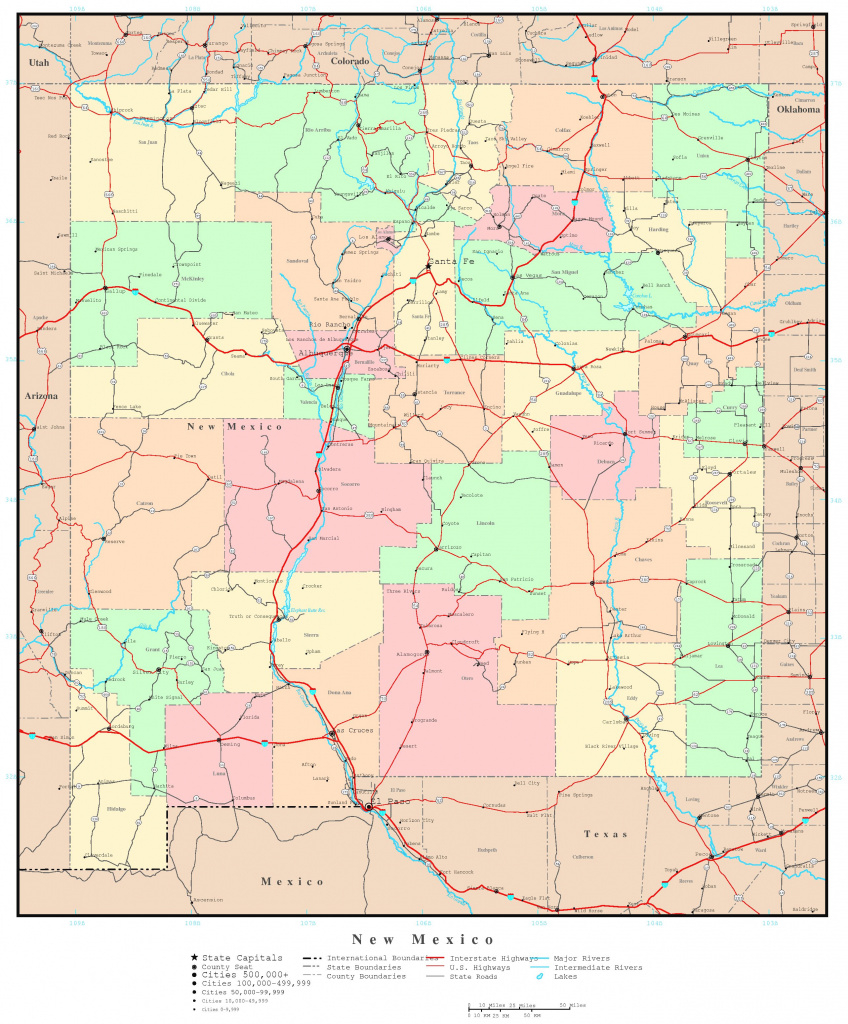 New Mexico Political Map pertaining to New Mexico State Map Images