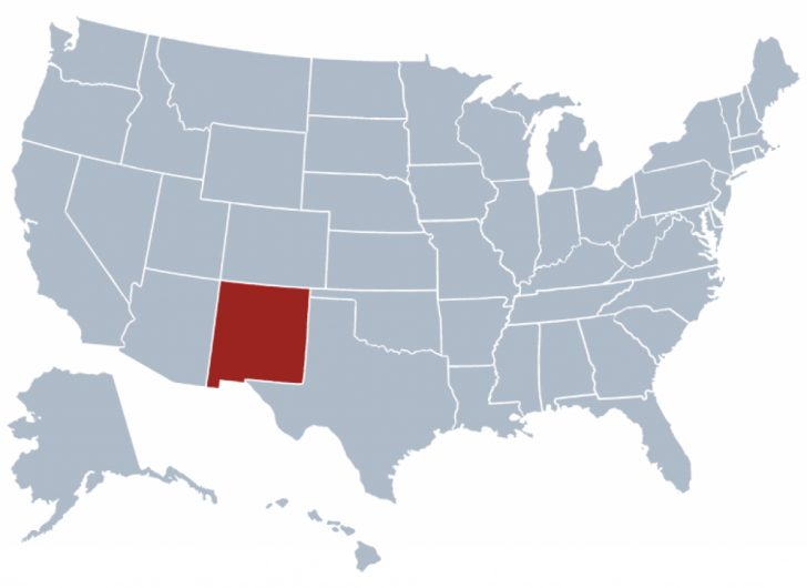 New Mexico State Map Images