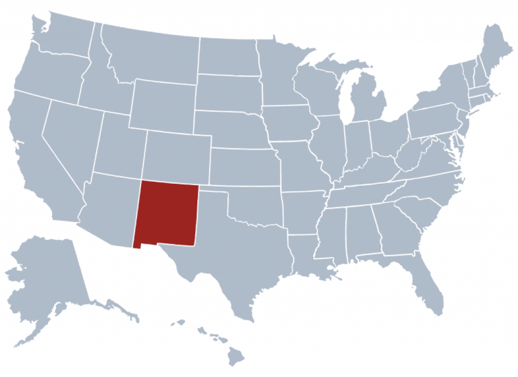 New Mexico State Information - Symbols, Capital, Constitution, Flags in New Mexico State Map Images