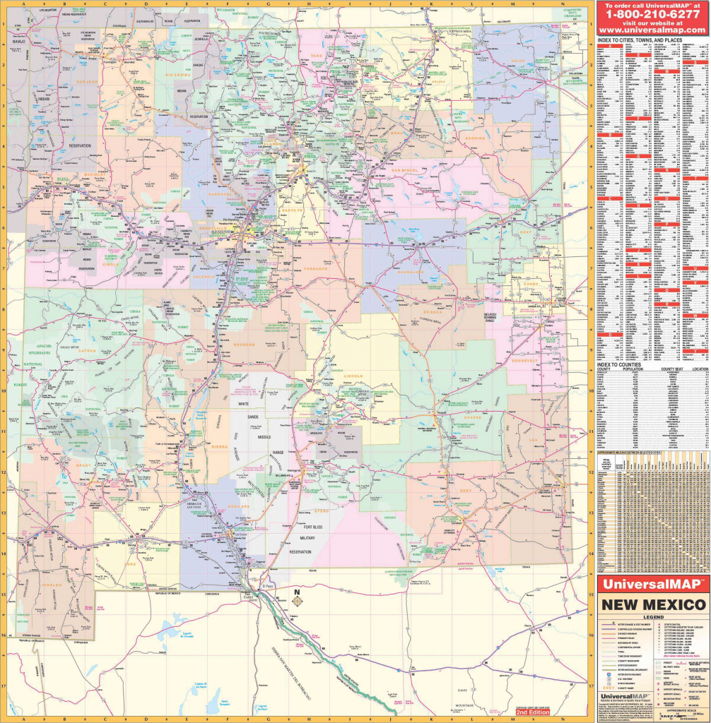 New Mexico State Wall Map – Kappa Map Group throughout State Wall Maps