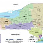 New York Area Codes | Map Of New York Area Codes Within New York State Zip Code Map