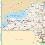 New York Highway Map Inside New York State Map With Cities And Towns