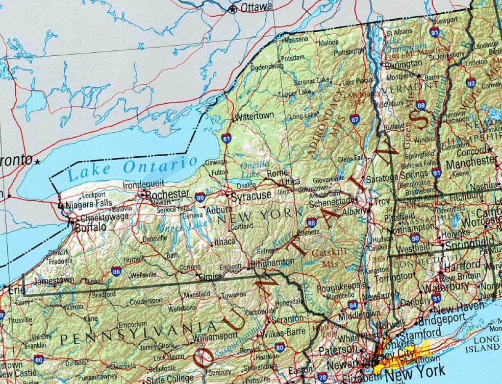 New York Maps - Perry-Castañeda Map Collection - Ut Library Online in Road Map Of New York State And Pennsylvania