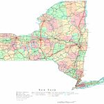 New York Printable Map Intended For Printable Map Of New York State