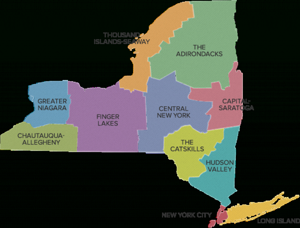New York Regions | New York State | Path Through History intended for New York State Tourism Map