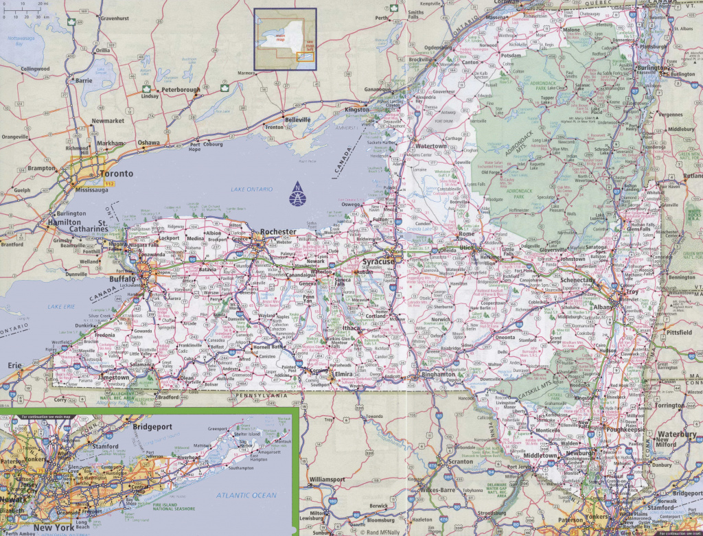New York Road Map for Printable State Road Maps