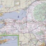New York Road Map Pertaining To New York State Highway Map