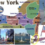 New York State Capital New York City Population Km2 America Throughout New York State Tourism Map