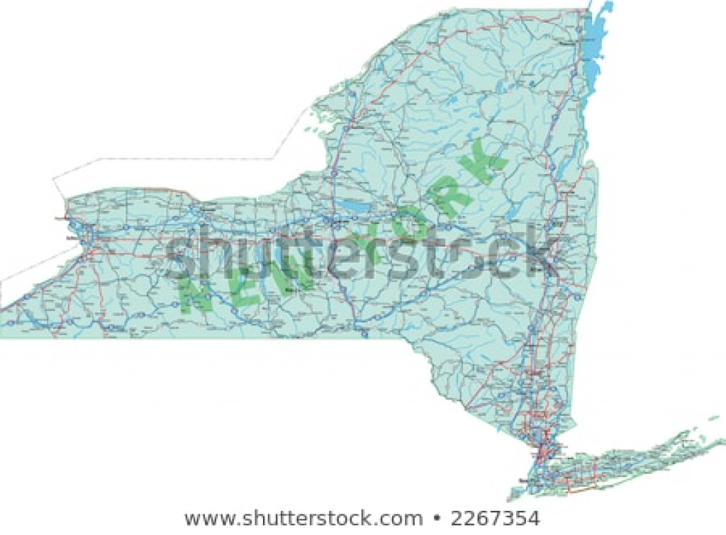 New York State Interstate Us Highway Stock Vector (Royalty Free pertaining to New York State Highway Map