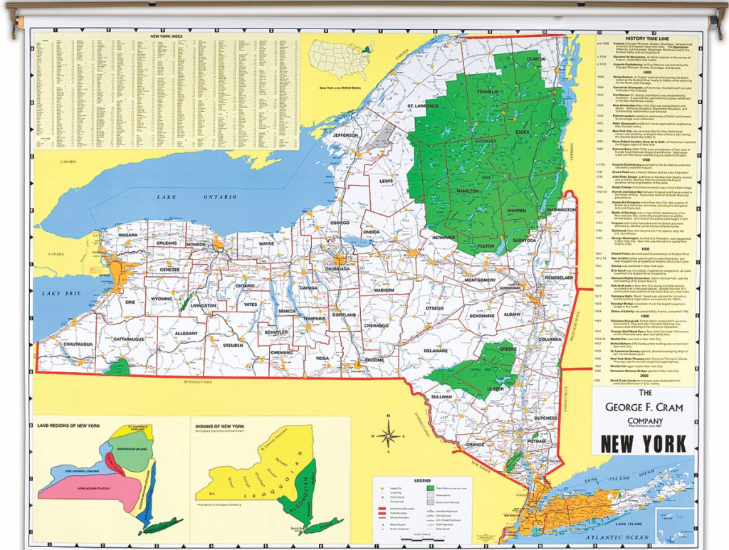 New York State Political Map intended for State Political Map
