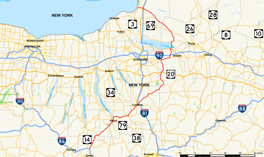 New York State Route 13 - Wikipedia regarding New York State Highway Map