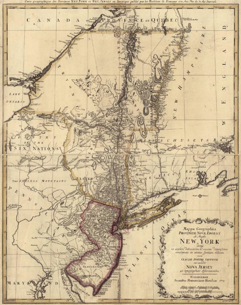 New York throughout New York State Revolutionary War Map