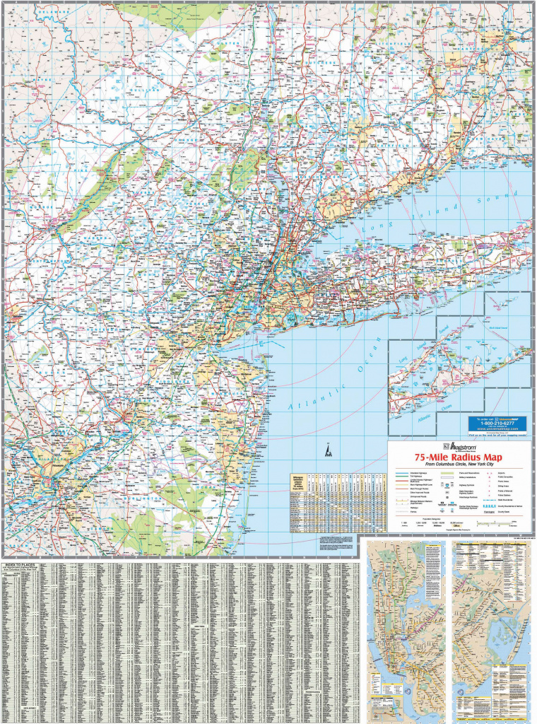 New York Tri-State Vicinity Wall Map – Kappa Map Group in Map Of Tri State Area Ny Nj Ct