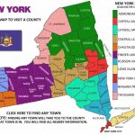 New York Visitors Guide Map With Regard To New York State Tourism Map