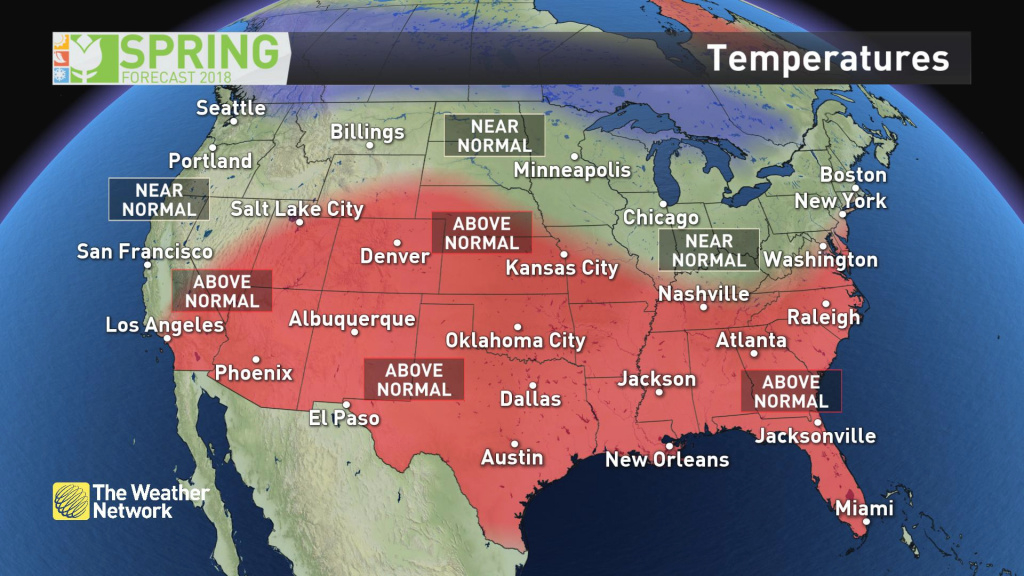 News - Spring Forecast 2018 And Exclusive Sneak Peek At Summer - The in Weather Heat Map United States