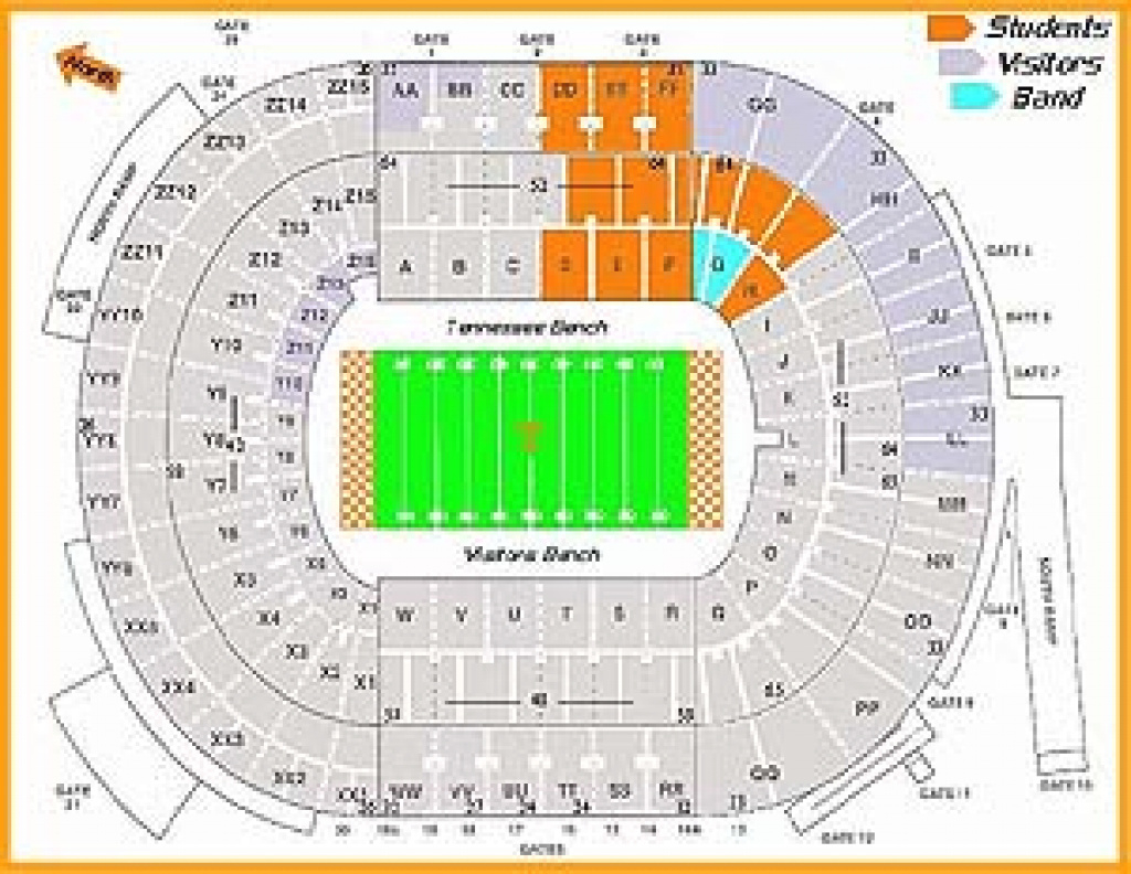 Neyland Stadium Seating Chart Information inside Penn State Football Stadium Seating Map With Rows